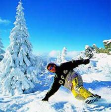 Zum Snowboarden lädt der Geisskopf ein